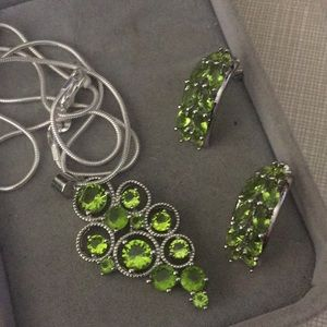 New Beautiful green amethyst artisan Set